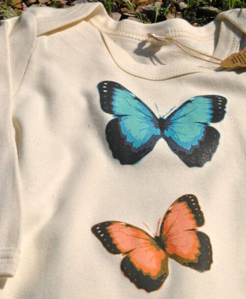 bodies bebes algodon organico manga larga originales diferentes con dibujos mariposas