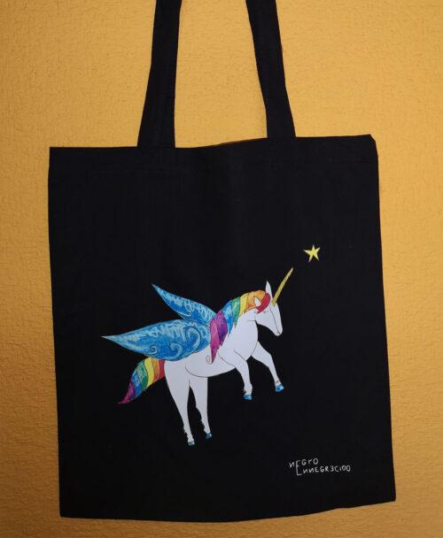 tote bag original y divertido unicornio