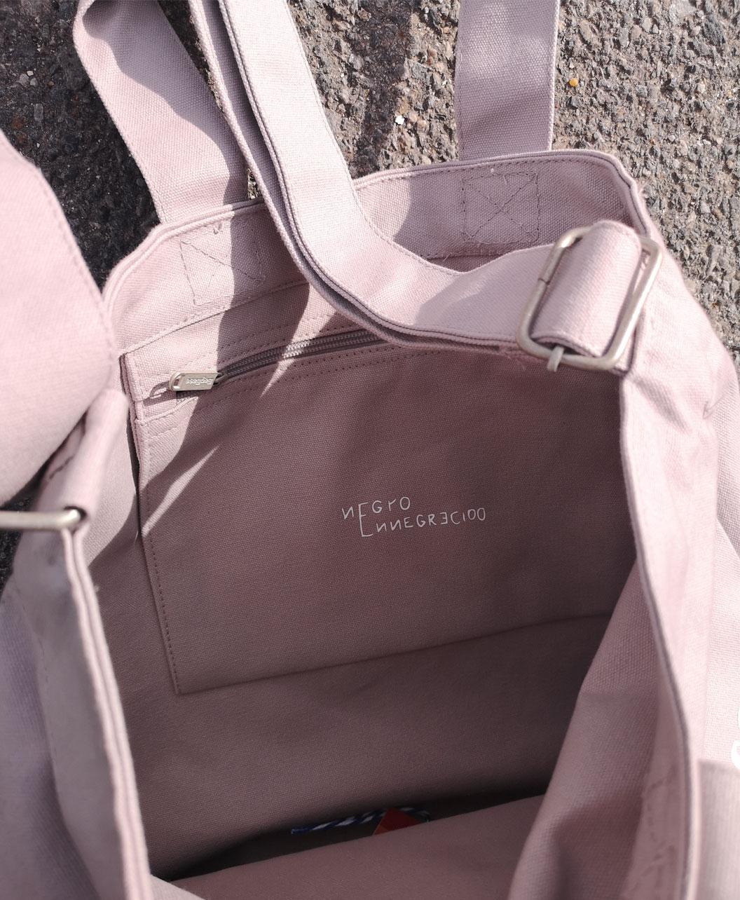 bolso resistente bonito grande con bolsillo y doble asa gato negro