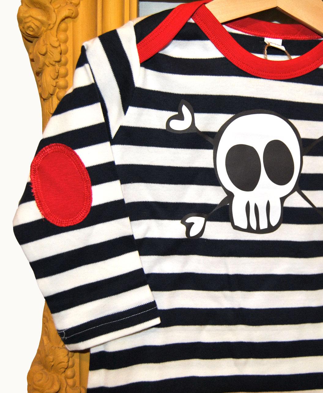 camiseta rayas navy coderas bebe calaverita