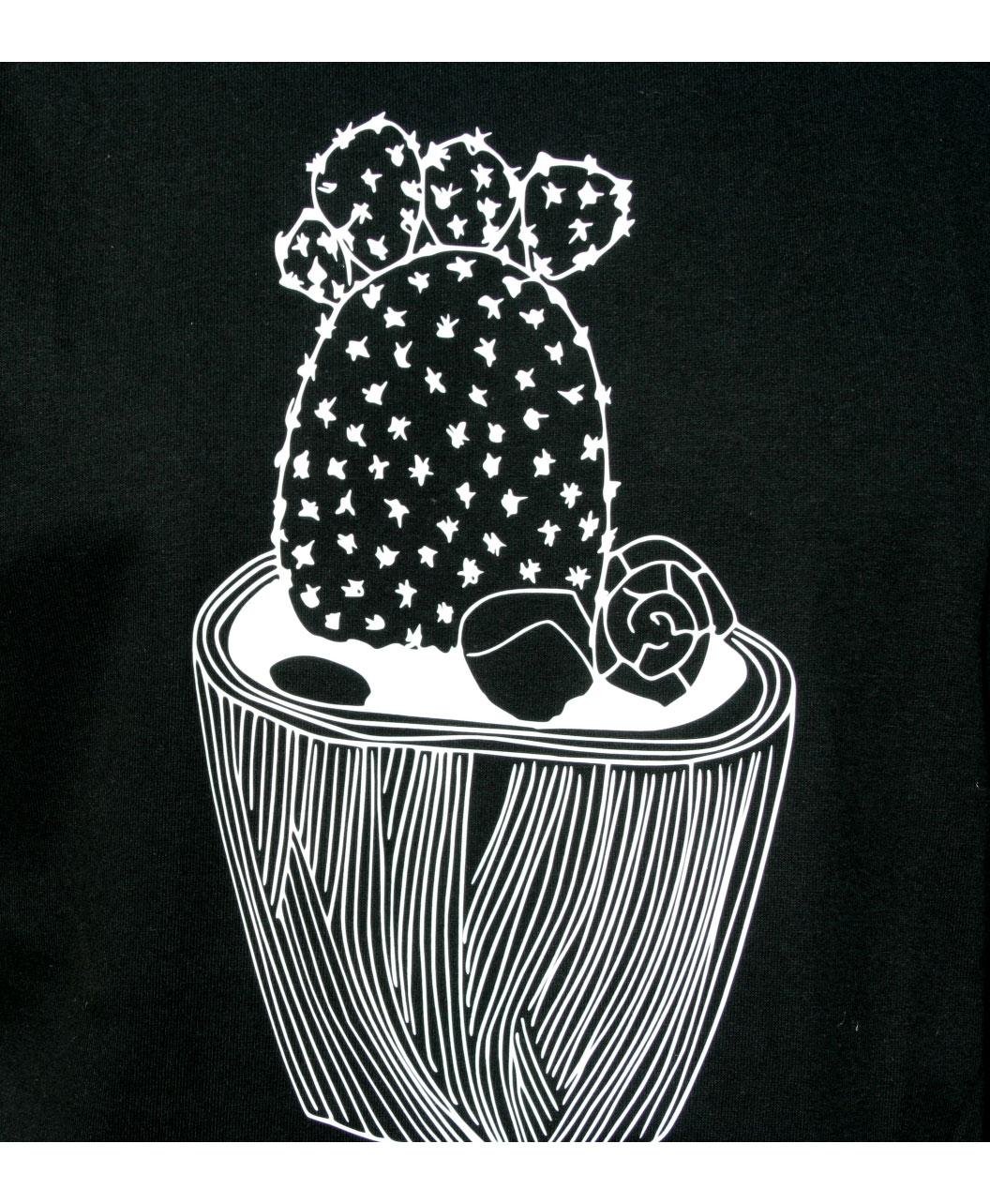 camiseta manga corta unisex estilo diferente original con dibujo contorno cactus
