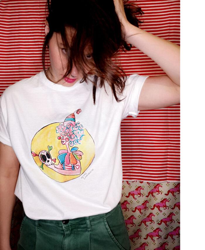 camisetas unisex originales manga corta basicas moda alternativa dibujo payaso calavera arcoiris hamlet
