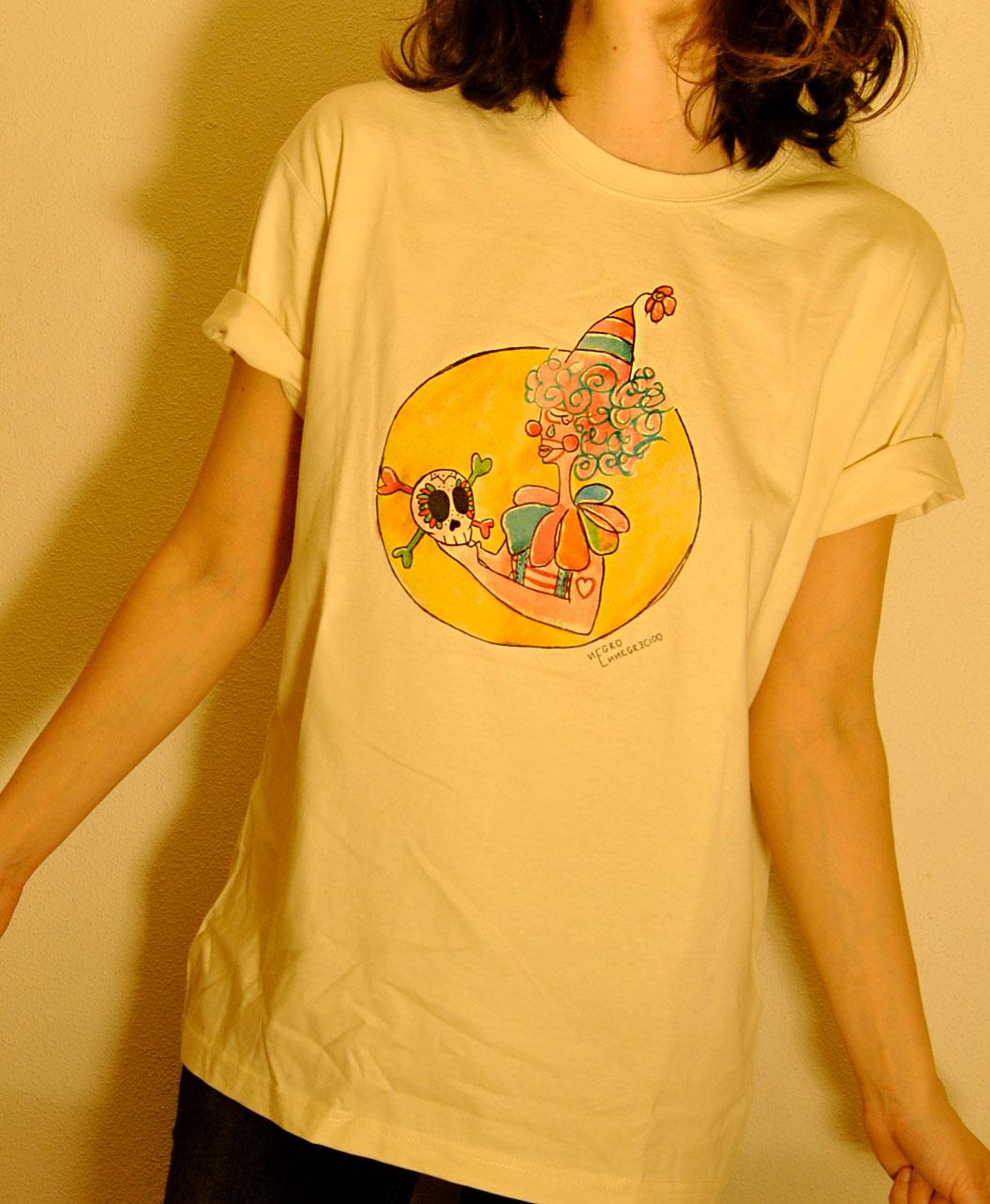 camiseta adulto unisex manga corta originales diferentes con dibujo payaso