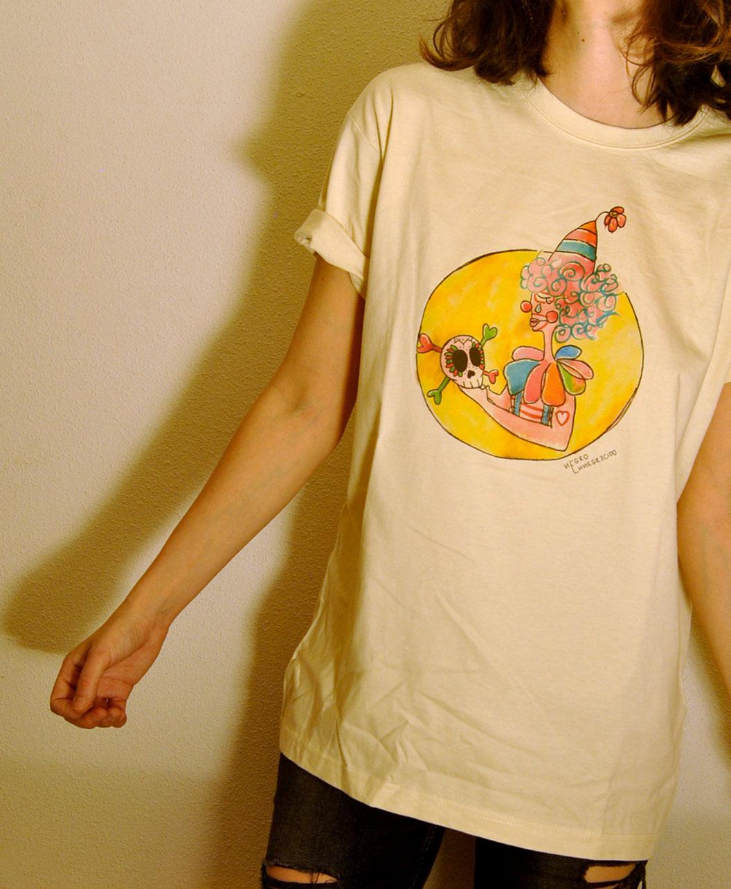camiseta manga corta adulto unisex original diferente sad payaso