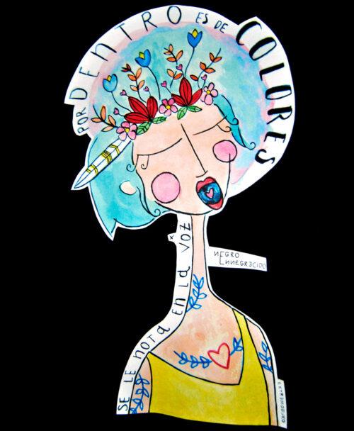 camisetas algodon organico con ilustraciones y canciones espanol voz color