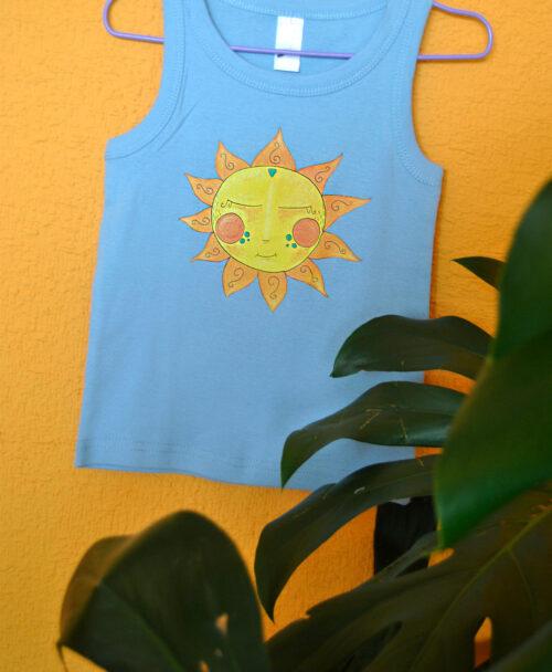 camiseta verano ninos tirantes moda infantil alternativa sol amarillo