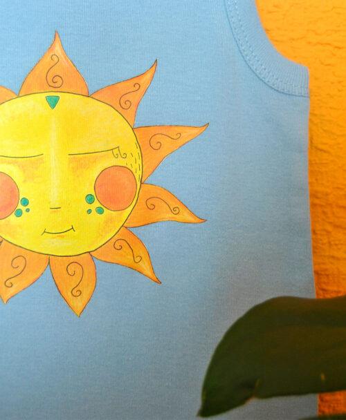 camiseta tirantes ninos verano sol amarillo buena energia