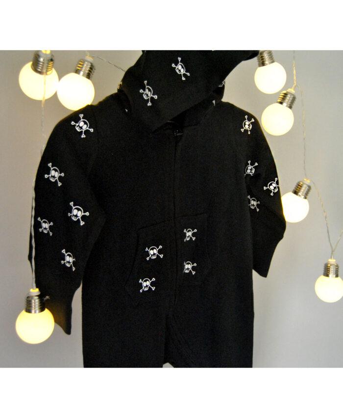 ropa original para bebes chandal pijama negro calaveras
