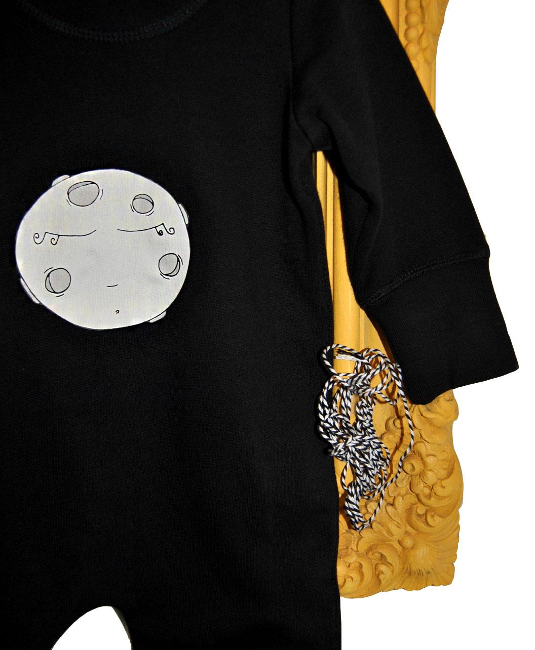 mono enterizo negro bebe luna