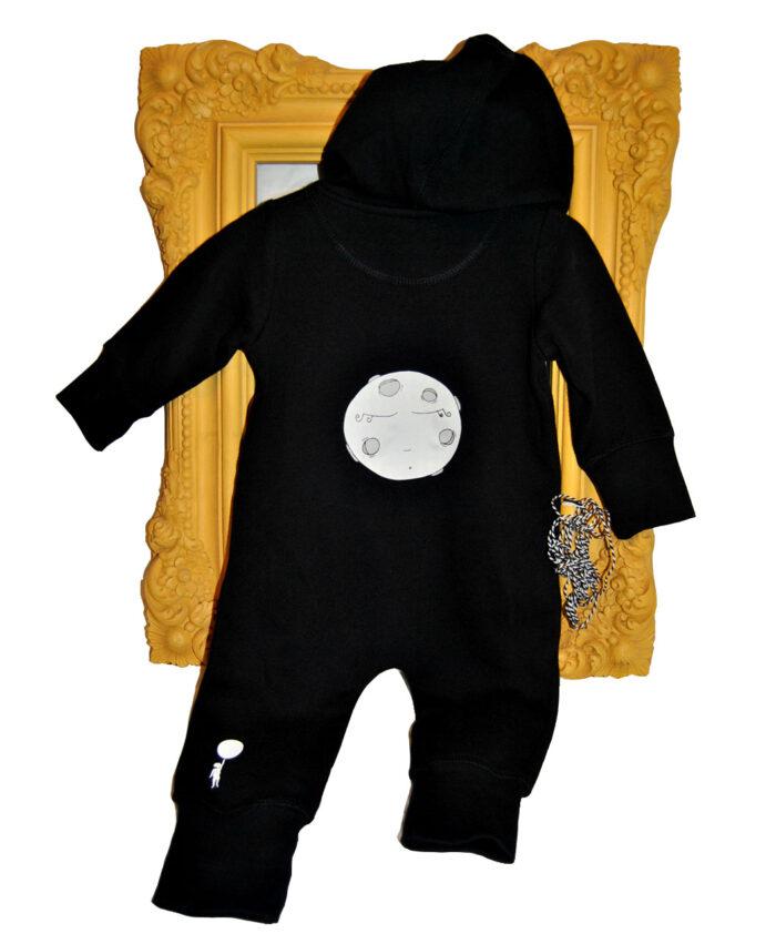 overall negro bebe baby moon