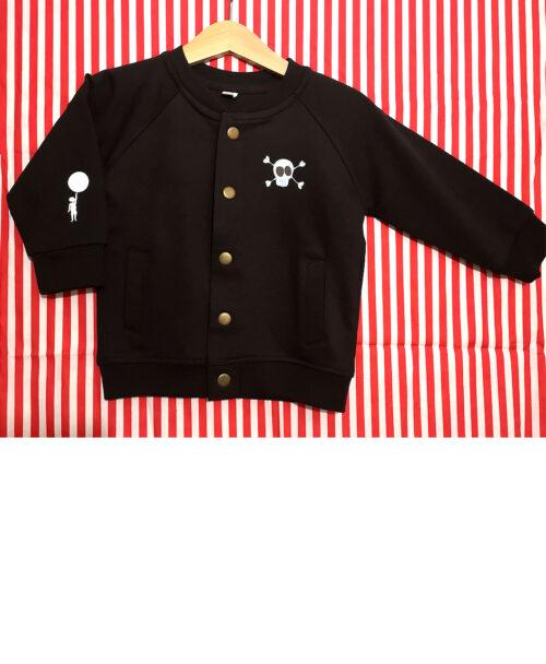 chaqueta baby bomber algodon organico botones ilustraciones originales calaverita skull