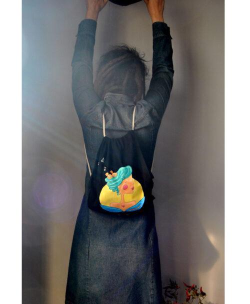mochila original divertida alegre pajaros en la cabeza