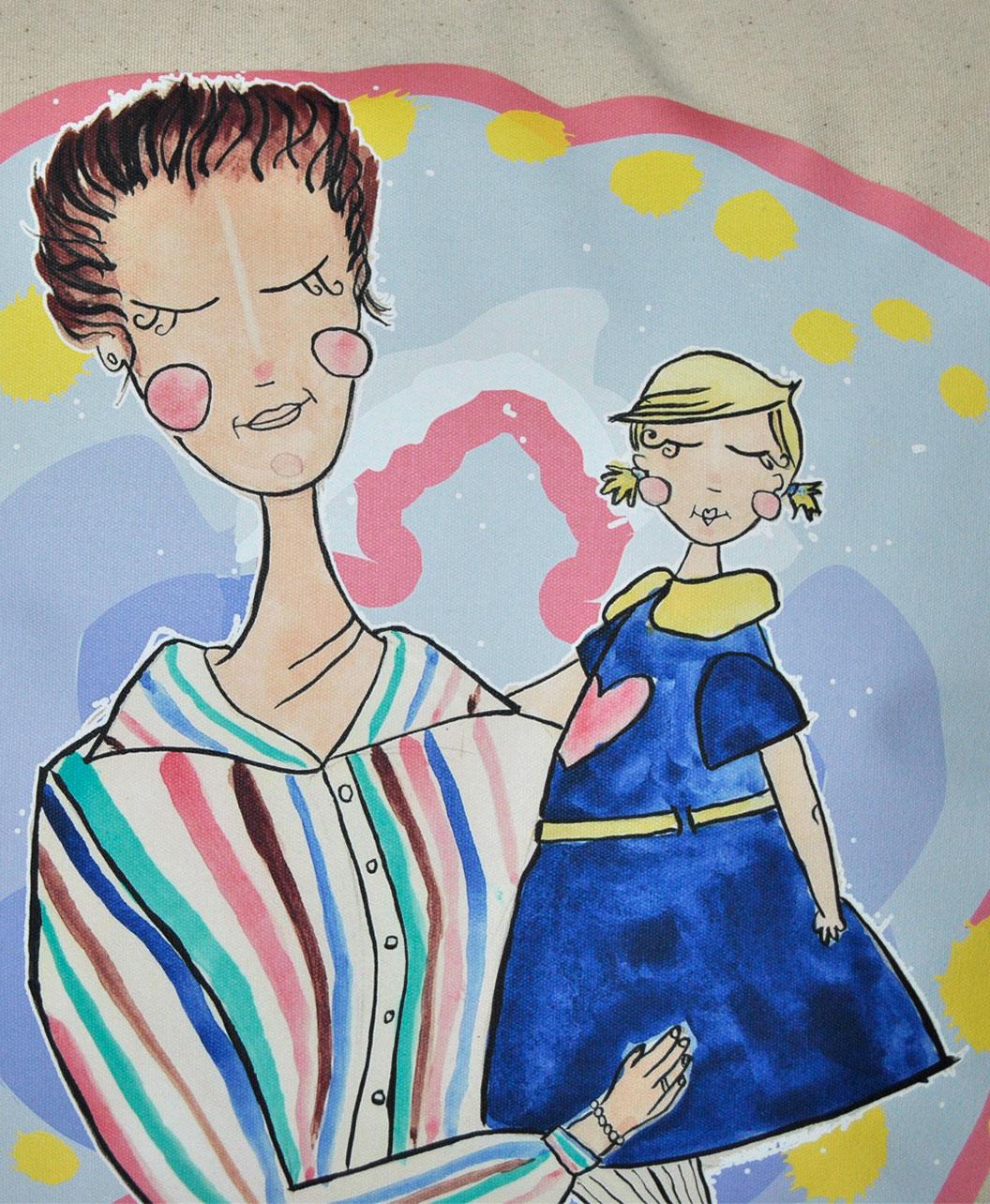 cojin personalizado diseno retrato divertido abuela nieta