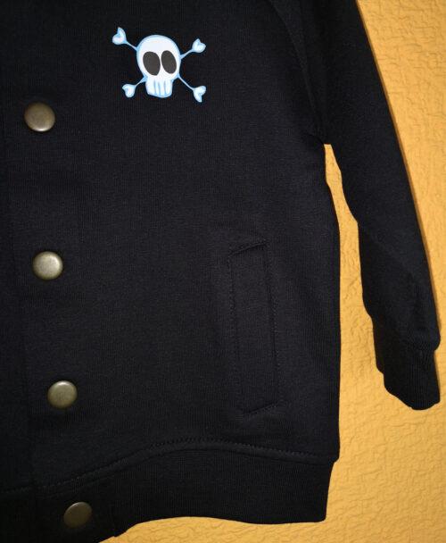 chaqueta bomber bebe algodon organico bolsillos calaverita