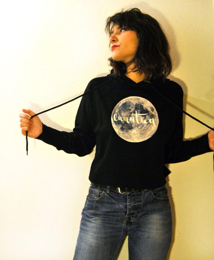 sudadera mujer moda alternativa y consciente algodon organico lunatica