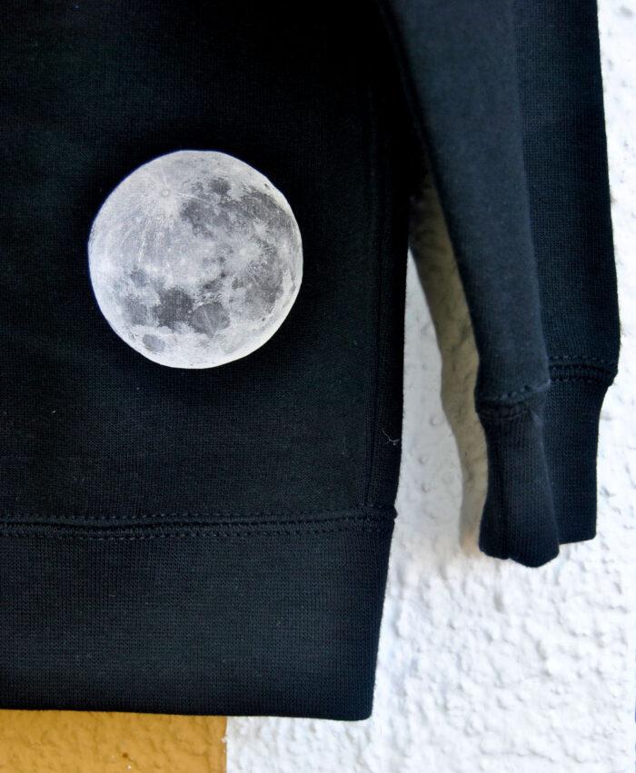 sudadera original divertida diferente unisex nino espacio luna