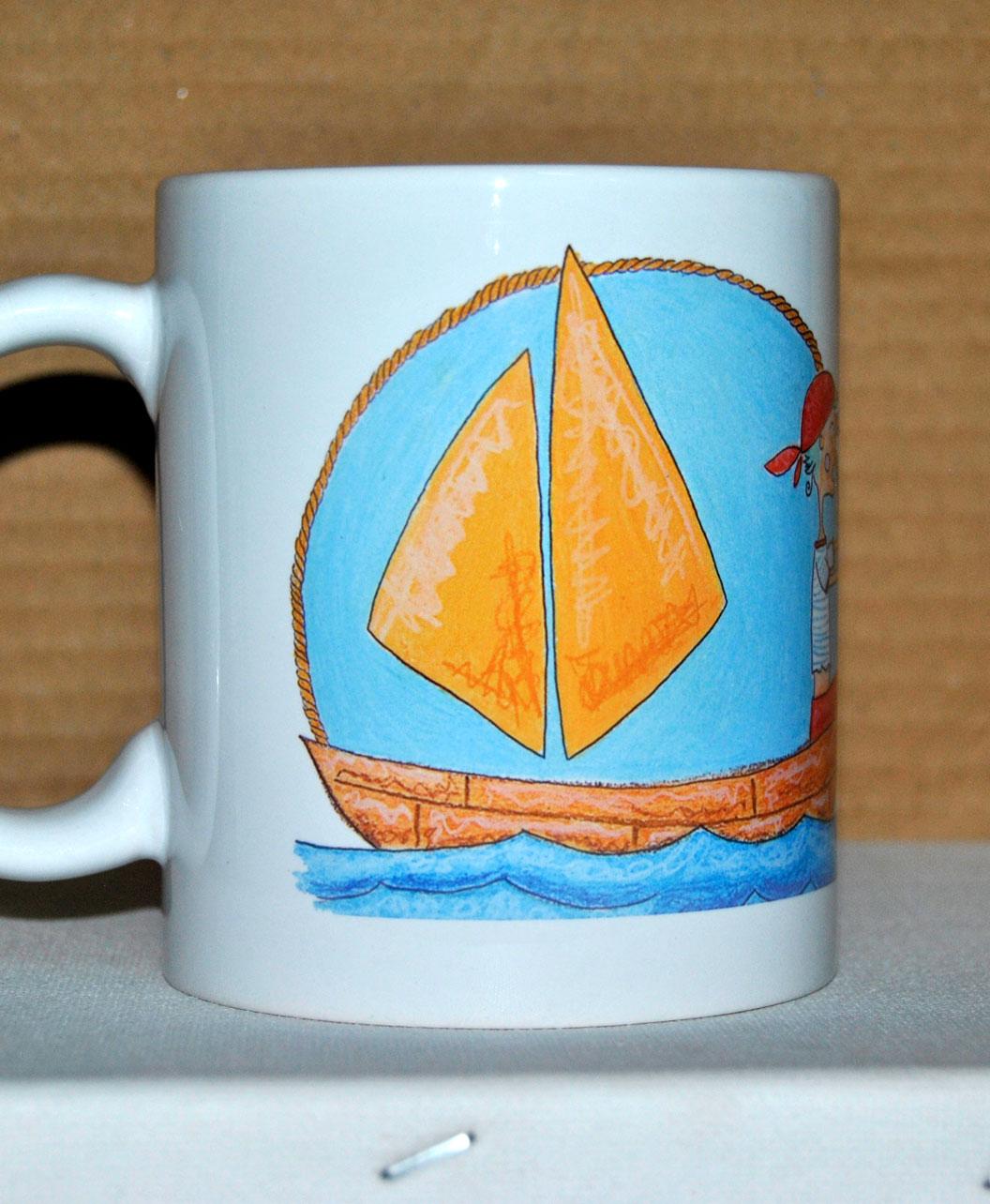 taza dibujos originales infantiles bonitos diferentes barquito pirata marinerito
