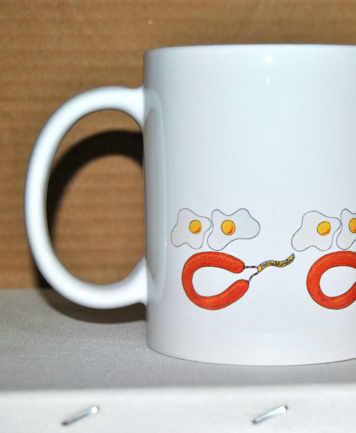 taza souvenir original recuerdo ciudad rodrigo huevos con farinato