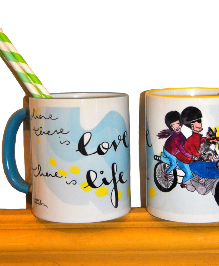 taza personalizada retrato divertido familia con frase regalo ideal