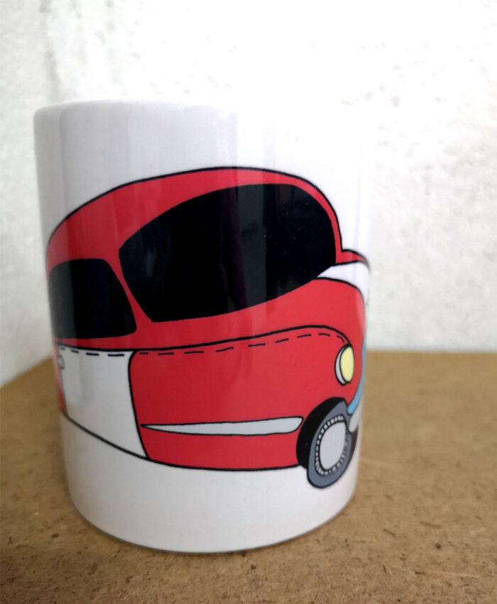 taza personalizada dibujo divertido original y nombre coche