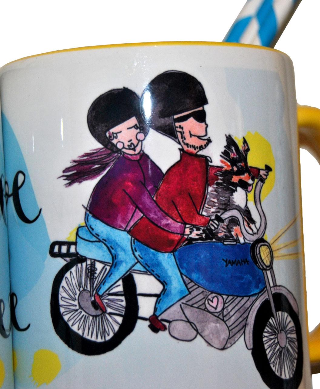 taza personalizada retrato divertido pareja ilustracion regalo ideal