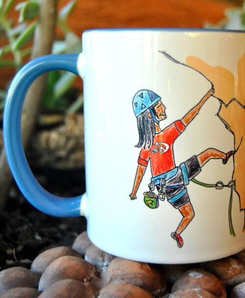 taza personalizada retrato divertido original especial deportes hobbies escalador