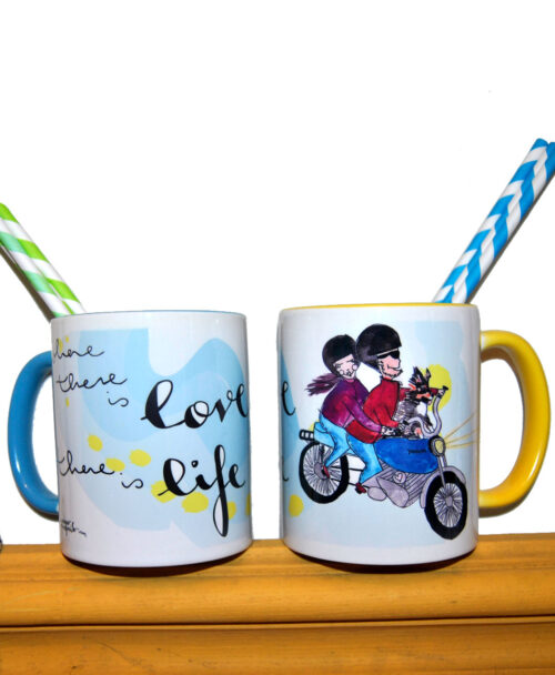 taza personalizada retrato divertido pareja ilustracion regalo ideal