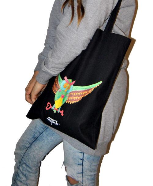 tote bags con dibujos de animales original estilo alternativo buho tattoo tradicional