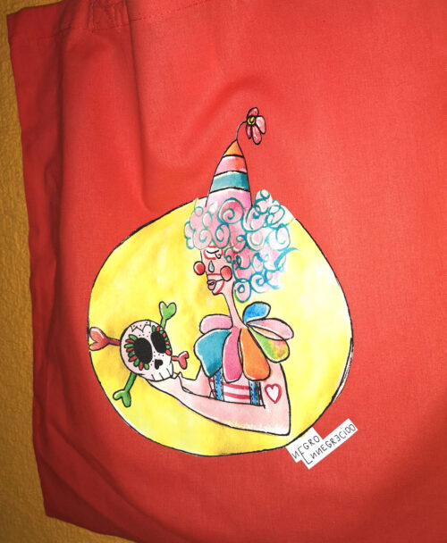 totebag original y colorido sad payaso