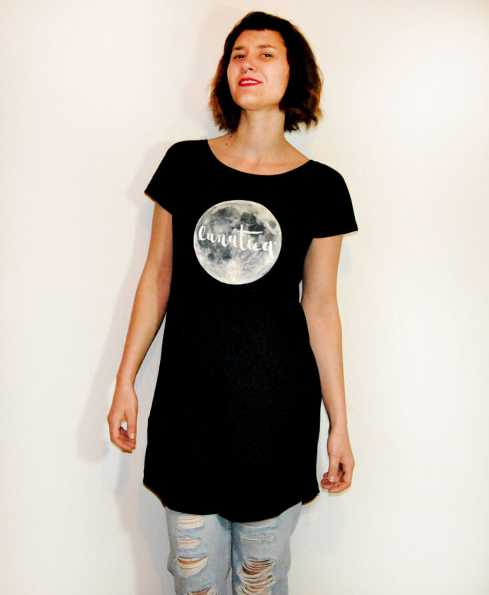 vestido tunica original diferente algodon organico mujer luna llena lunatica
