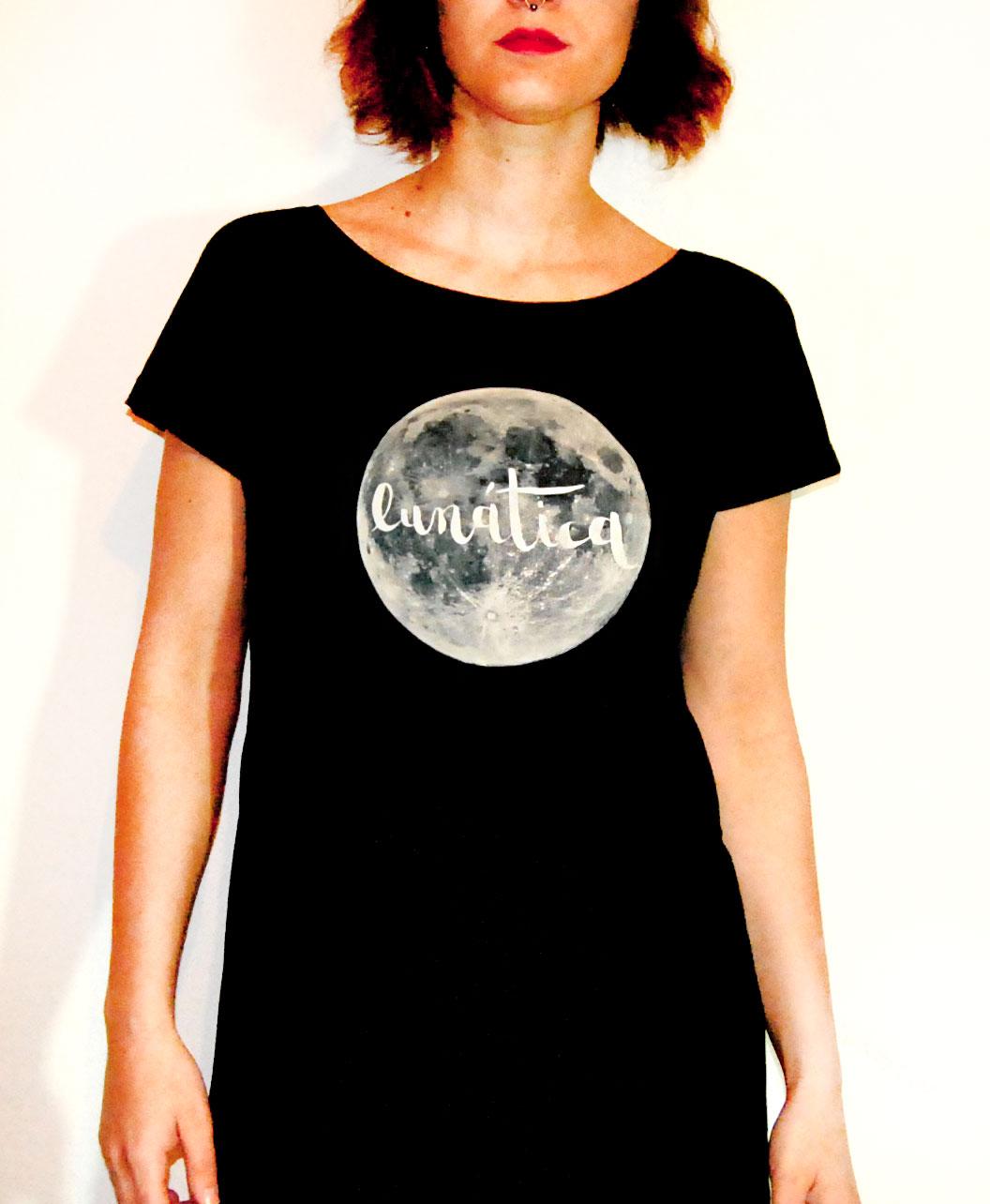 tunica vestido original mujer algodon organico luna llena lunatica