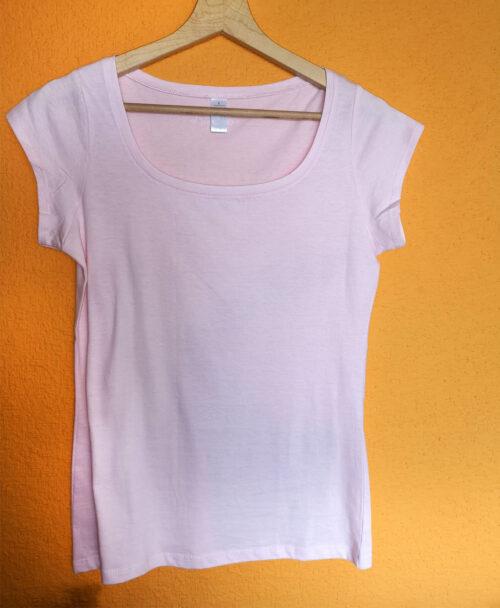 camiseta mujer rosita cuello barco rebajas ilustracion escalera