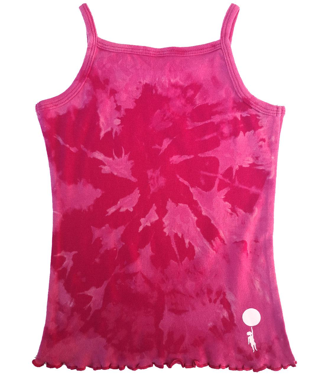 camiseta tirantes nina rosa fucsia tie dye dibujo unicornio arcoiris