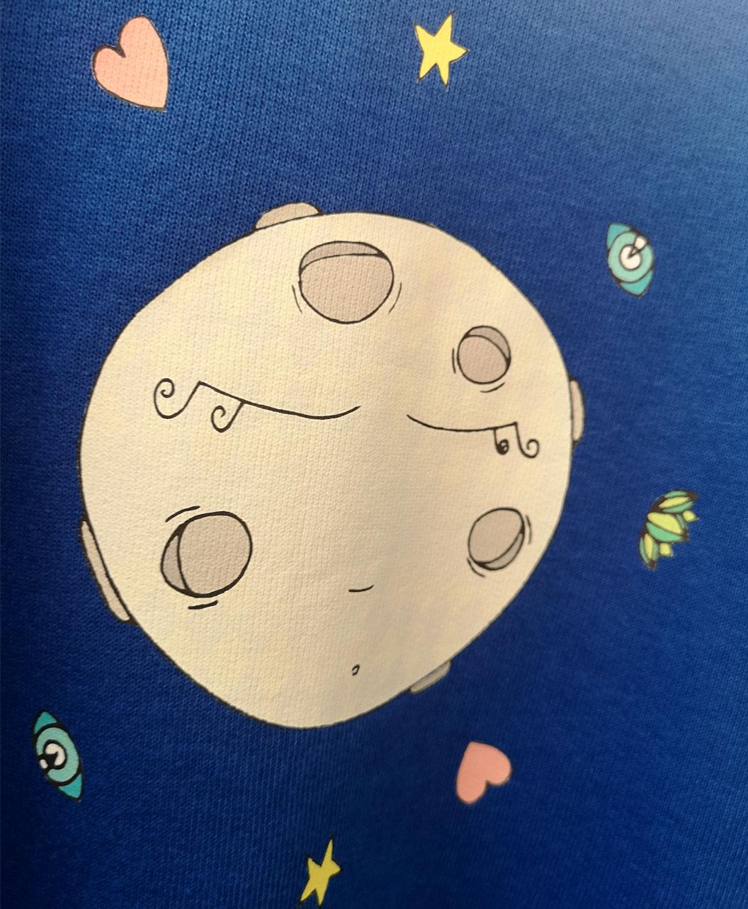 sudadera infantil basica unisex azul luna llena