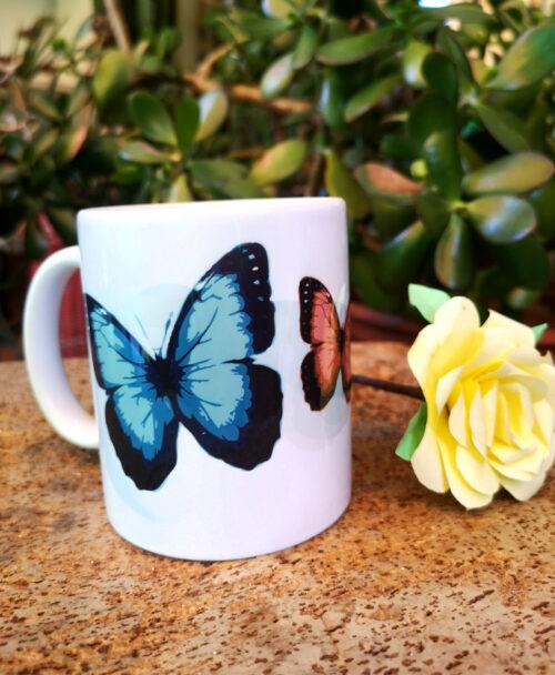 taza original bonita dibujos diferentes animales mariposas