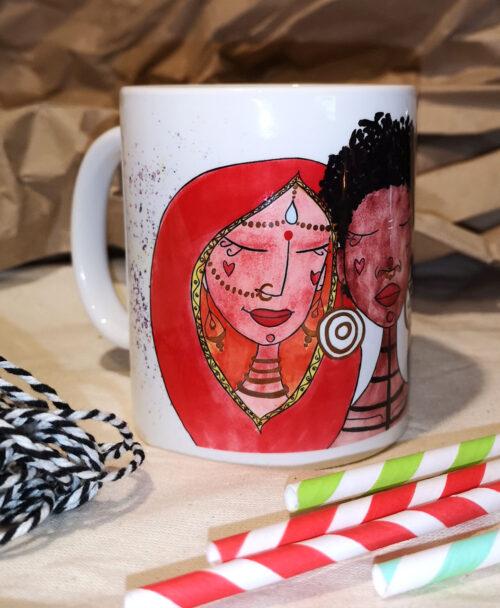 taza con dibujos de mujeres bonita y original feminista