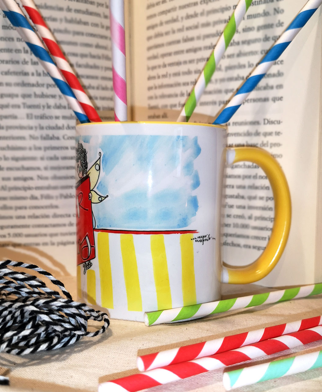 taza original bonita ideal regalo lectura libros leer da suenos